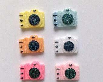 Camera cabochons set (6 pcs)