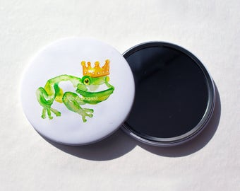 Pocket mirror 56mm - Frog prince