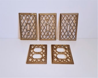 Vintage Light Switch and Outlet Cover Plates, Electrical Outlet, Switch Plate, Lattice Design