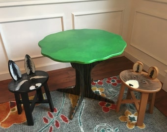 "Woodland Wonderland Tree Table set (22"" Tall) (table + 2 stools)"