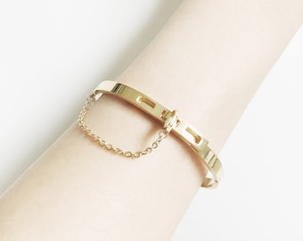 NEW ARRIVAL Safety Chain Bracelet_ Gold/Rose/Silver