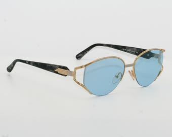 Paco Rabanne blue glasses