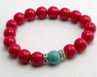 Friendship Bracelet with 10mm Howlite Beads