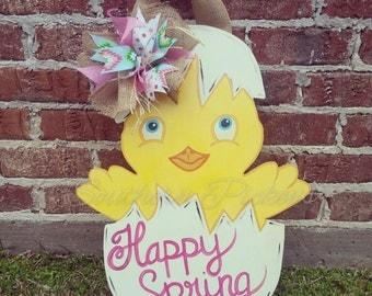 Chick & Egg Spring/Easter Door Hanger