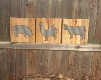 Personalizable Rustic Farmhouse Wall Art Created With Salvaged Materials