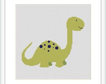 Dinosaur Cross Stitch Pattern for Baby and Kids room Animal nursery Dino сross stitch pattern Cross stitch nursery Boys room X204