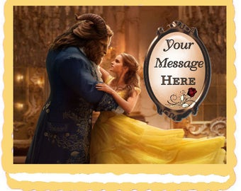 Beauty & The Beast (Live-Action) Edible Cake Topper