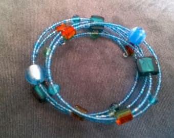 Lovely Hand Made Teal Bead Bracelet