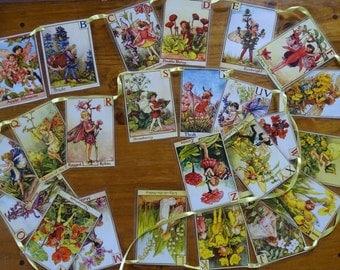 Flower Faries Alphabet Bunting
