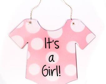 It's a Boy Door Sign!  It's a Girl Door Sign! New Baby Door Hanger