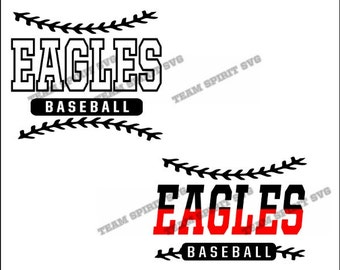 Eagles Baseball Laces Download Files - SVG, DXF, EPS, Silhouette Studio, Vinyl Cut Files, Digital Cut Files -Use with Cricut and Silhouette