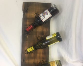 Antique wood wine rack