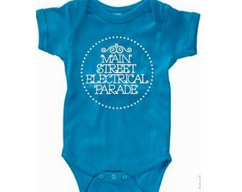 Disney Baby Shirt Main Street Electrical Parade  Shirt Disneyland Shirt Disney World Shirt  Magic Kingdom Shirt