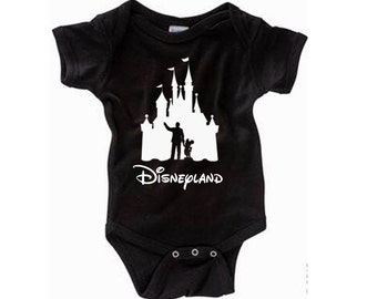 Disney Baby Shirt Walt and Mickey Partners Castle Shirt Disneyland Shirt Disney World Shirt Magic Kingdom Shirt