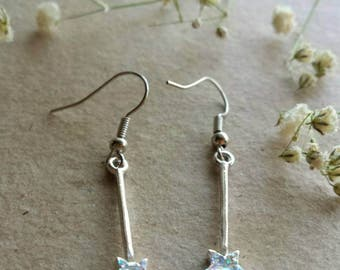 Fairy wand dangle earrings