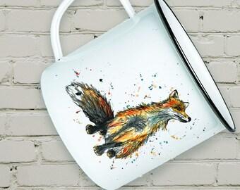 Enamel Fox Mug