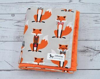 Personalized Minky baby blanket - Baby minky blanket - Fox minky blanket - Fox baby blanket - Woodland baby blanket - Woodland nursery