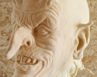 Demon Goblin Latex Blank Casting, Mask Or Display Prop For You To Paint