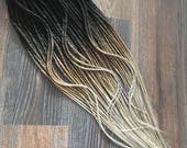 FAKE dreads. NATURAL looking ombre dreadlocks. single or double ended dreadlocks. crochet or classic texture. x10 or full set 20-25 inch