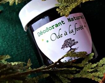 "Natural deodorant cream ""ode to the forest"" (black spruce, cedar, schizandra, activated)"