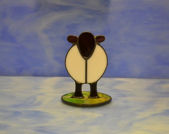 Stained glass Sheep suncatcher decoration