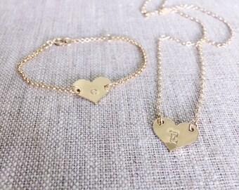 Heart initial Bracelet