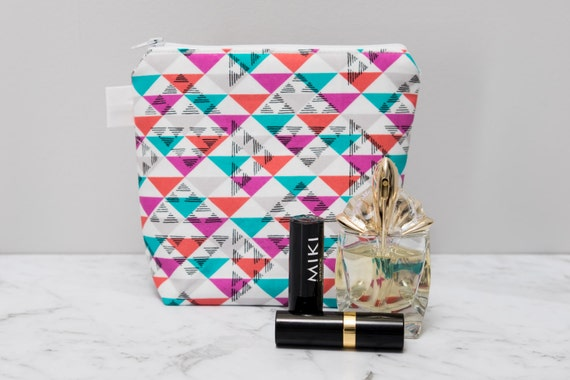 geometric makeup bag make up toiletry cosmetic pouch zipper cfff43eb4933c