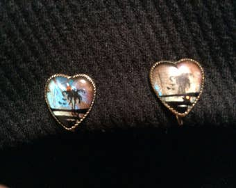 Real Butterfly Wing Earrings Screw Back Mott style