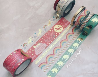 Recollections Washi Tape-  enchanting. make today enchanting. you are magical. unicorn