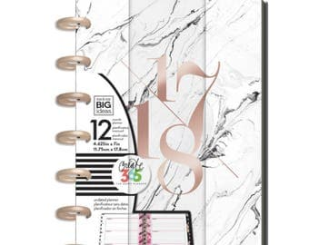 Create 365 The Happy Planner™ 12 Month Mini Planner-White Marble