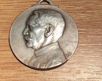 French World War 1 Joseph Gallieni Commemorative medallion by Auguste Maillard (France)