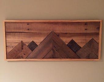 Mountain Pallet Art