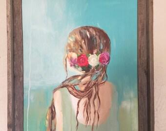Evie-original painting (flower crown)