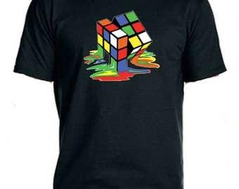 Melting Rubix Cube Tee-Shirt