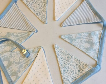 Duck egg blue bunting