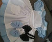 Baby Girls Handmade Alice In Wonderland Dress With PetticoatFancy Dress. Party age 3 Months To 10 Years