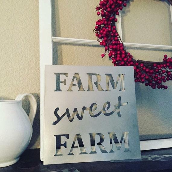Farm Sweet Farm - metal sign
