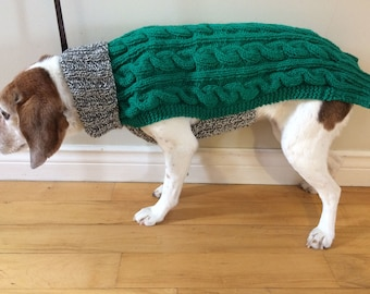 Whippet Sweater, Whippet Coat, Whippet Clothes, Sighthound Coat, Dog Sweater, Medium Dog Sweater, Medium Dog Clothes, Knit Dog Sweater