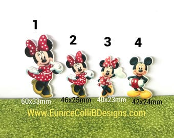 5 minnie mouse flat back resin