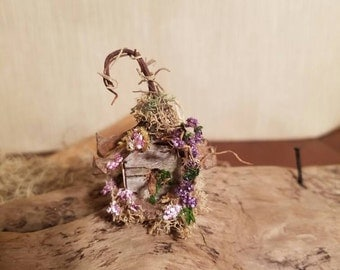 Fairy / dollhouse miniature handmade birdhouse