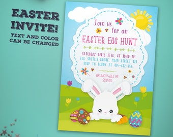 Easter Egg Hunt Invitation - Easter Party Invitation - Egg Hunt Invitation - Egg Hunt Party Invitation - Easter Brunch Invitation
