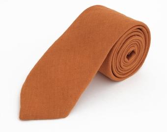 Burn Orange Necktie For Wedding / - Necktie For Groomsmen / Orange Pocket Square With Necktie / Orange Men Necktie / Orange Bow tie For Men