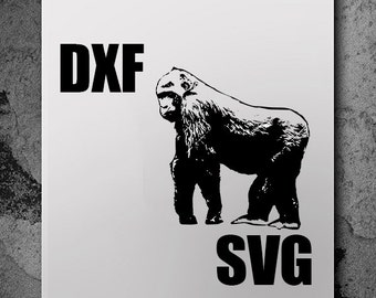 Gorilla Svg, svg files, silhouette cameo, svg cutting, svg file, silhouette files, cutting files, dxf files, cut files svg cutting files