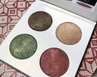 Vegan Eyeshadow-Winter Eyeshadow-Pressed Eye Shadow-Eyeshadow-Quad #7 Eyeshadow Palette-Organic Eyeshadow Palette, Vegan Eyeshadow Palette