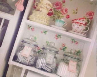 Kitchen towel shelves kitchen shelf unit with shaker pegs & Cath Kidston Wallpaper