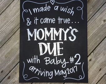 Expecting Baby #2 Chalkboard/Canvas