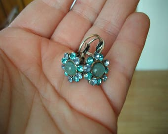 Light blue Rhinestone drop earrings