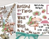 """Printable Bible Journaling Page Kit - """"Blessed"""" - Complete kit for Bible Pages or Journals. Fits all Journaling Bibles."""