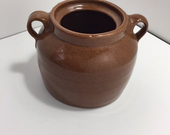 Vintage Medalta Brown Bean Pot without Lid unnumbered