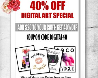 Wall Art Prints, Printable Art, Printable Wall Art, Digital Print, Digital Download, Discount Coupon, Discount Code, Sale Items,On Sale,BoGo